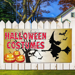 Vinyl Banner Sign Halloween Costumes #1 Halloween Marketing Advertising Orange