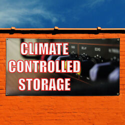 Vinyl Banner Sign Climate Controlled Storage Marketing Advertising Black