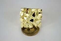 Authentic 10k Yellow Gold Nugget Extra Large Ring Ring Sizes 10-15 22.6grams