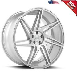 4/set 20 Wheels And Tires Blaque Diamond Bd-1 Silver With Polished Face
