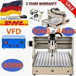 400w Spindle 3040T 4 axis Router Engraver Milling Drilling Machine