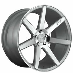 4/set 19 Niche M179 Verona Gloss Silver Machined Wheels And Tires