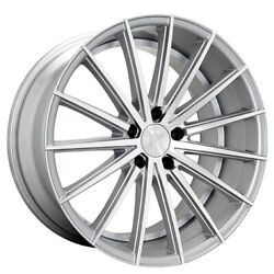 4/set 20 Staggered Wheels And Tires Lexani Pegasus Silver Machined