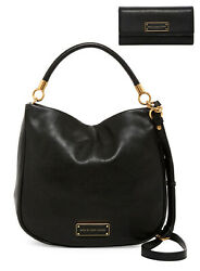 New Marc by Marc Jacobs Too Hot To Handle Hobo and Wallet SET BLACK AUTHENTIC