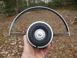 1967 Ford Galaxie Steering 500 Wheel Horn Ring Horn Button C7aa-13a800-a