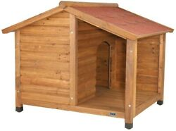TRIXIE Dog House 51 in. x 41 in. x 39 in. Medium-Large Pet Weatherproof Wood