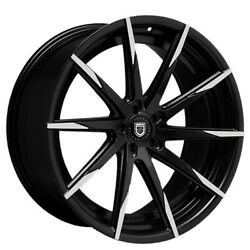 4new 20 Staggered Wheels And Tires Lexani Css-15 Black W Machined Tips