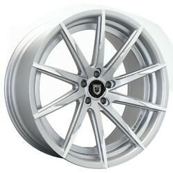 4new 20 Wheels And Tires Lexani Css-15 Silver W Machined Tips