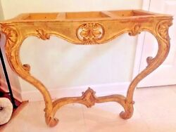 Gilt Antique French Console France   About 1850  GOLD COLOR
