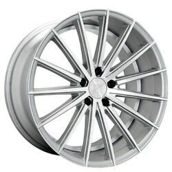 4new 20 Staggered Wheels And Tires Lexani Pegasus Silver Machined