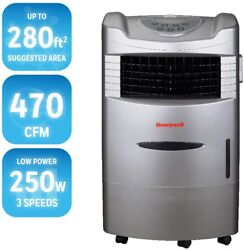470-CFM 4-Speed Indoor Portable LED Dry Climate Evaporative Cooler For 280-sq-ft