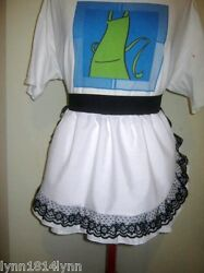 1/2 Aprons With Lace Over Trim All Colors Perfect Personalised For Bridal Shower