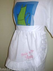 1/2 Aprons M2o Most Colors With Overlace Trim Suit Bride And Bridal Party