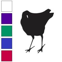 Bird Crow Chicken Art Decal Sticker Choose Color + Large Size Lg1758