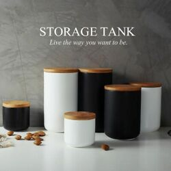 Ceramic Jar Sealed Storage Container Lid Bottle Tank Food Coffee Spices Seal Can