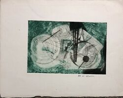 Masuo Ikeda - Important Color Etching From 1956 -been Advised It Is The Only One