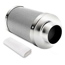 iPower 4 Inch Air Carbon Charcoal Filter for Odor Control Exhaust Inline Fan