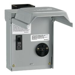 30 Amp Temporary Rv Power Outlet With Breaker