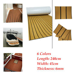 240x45cm Adhesive Foam Faux Teak Sheets Boat Decking Yacht Flooring Carpets Pad
