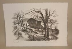 1983 Charles Banks Wilson Pencil Signed Lithograph Morning Chores Edition Of 145