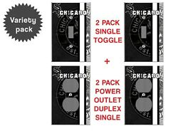 Chicago White Sox Variety Pack outlet light switch covers wall plate decor 4 pk