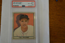 1941 Play Ball #14 Ted Williams Red Sox PSA 6.5+++