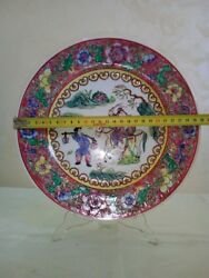 Antique Chinese Handmade porcelain PlateHand-painted
