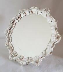 Vintage Sterling Silver Tray / Salver.of Circular Form.sheffield 1973. By M T