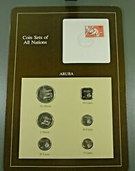 Coins Of All Nations Bu Set - Aruba Free Shipping