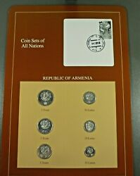 Coins Of All Nations Bu Set - Republic Of Armenia Free Shipping