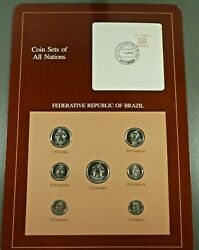 Coins Of All Nations Bu Set - Federative Republic Of Brazil Free Shipping