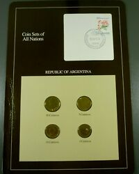 Coins Of All Nations Bu Set - Republic Of Argentina Free Shipping
