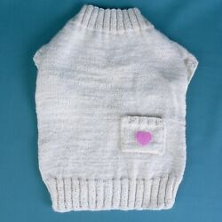 Small Dog knit sweater Outfit Pet Puppy sweater Yorkshire Clothes M size