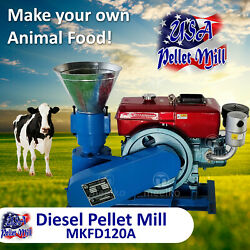 Diesel Pellet Mill For Cowand039s Food - Mkfd120a - Usa