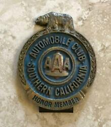 Automobile Club Aaa Southern California Honor Member License Plate Frame Topper
