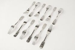 Imperial Russia Silver Forks