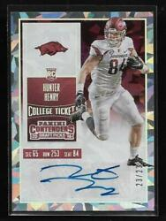 2016 Contenders Cracked Ice College Ticket Hunter Henry Auto Rc 23/23
