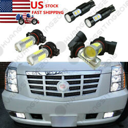 6x Led Fog Driving Drl Light Bulbs Combo For Cadillac Escalade 07-14 Replacement