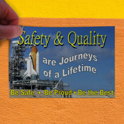 Decal Sticker Safety Quality Journeys Lifetime Be Safe Be Proud Be Best Outdoor