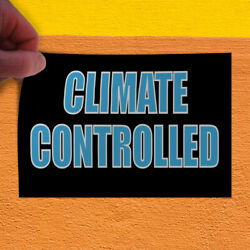 Decal Sticker Climate Controlled Automotive Climate Control Outdoor Store Sign