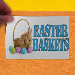 Decal Sticker Easter Baskets With An Image Holidays and Occasions Store Sign