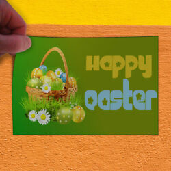 Decal Sticker Happy Easter Egg Basket Holidays and Occasions Outdoor Store Sign