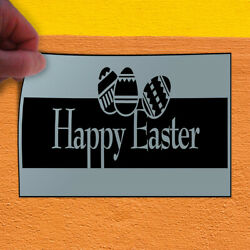 Decal Sticker Happy Easter Style2 Holidays and Occasions Outdoor Store Sign