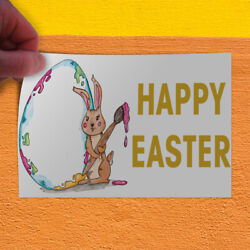 Decal Sticker Happy Easter #1 Holidays and Occasions Happy Easter Store Sign