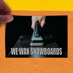 Decal Sticker We Wax Snowboards Business Snowboards Outdoor Store Sign White