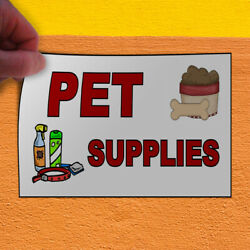 Decal Sticker Pet Supplies White Red Brown Business Outdoor Store Sign White