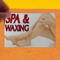 Decal Sticker Spa & Waxing Business Spa Outdoor Store Sign White