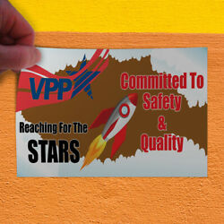 Decal Sticker Vpp Committed To Safety & Quality #1 Lifestyle Safety Store Sign