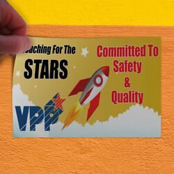 Decal Sticker Vpp Committed To Safety & Quality #1 Style A Lifestyle Store Sign