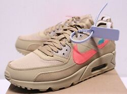 Nike Air Max 90 X Off White Desert Ore Beige Virgil Abloh Sneakers Boyand039s 4-7 New